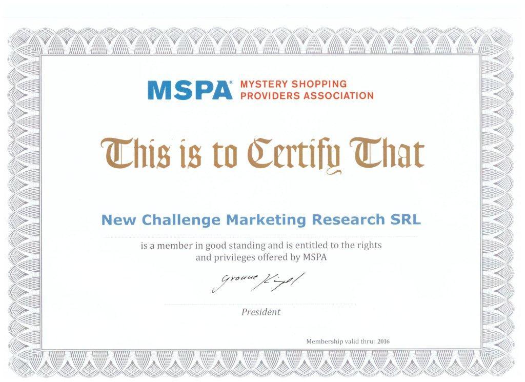 certificat mspa